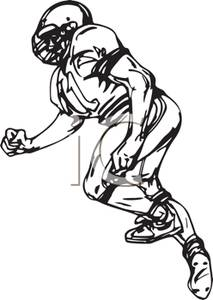 213x300 A Colorful Cartoon Of A Football Player In Full Gear