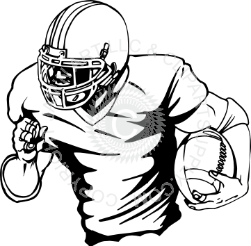 361x354 Pleasurable How To Draw A Football Player Running With Ball Coloring