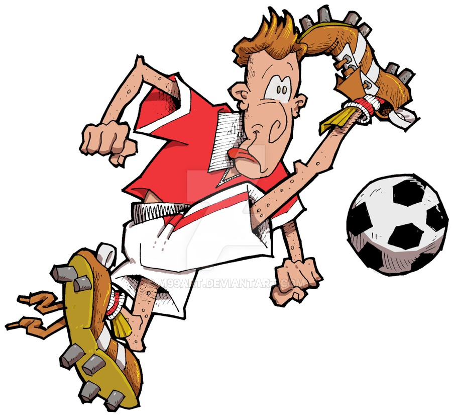 900x827 Cartoon Footballer