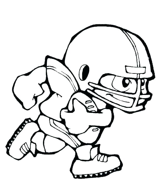 618x694 Coloring Pages To Print Players On Cartoon Football Player