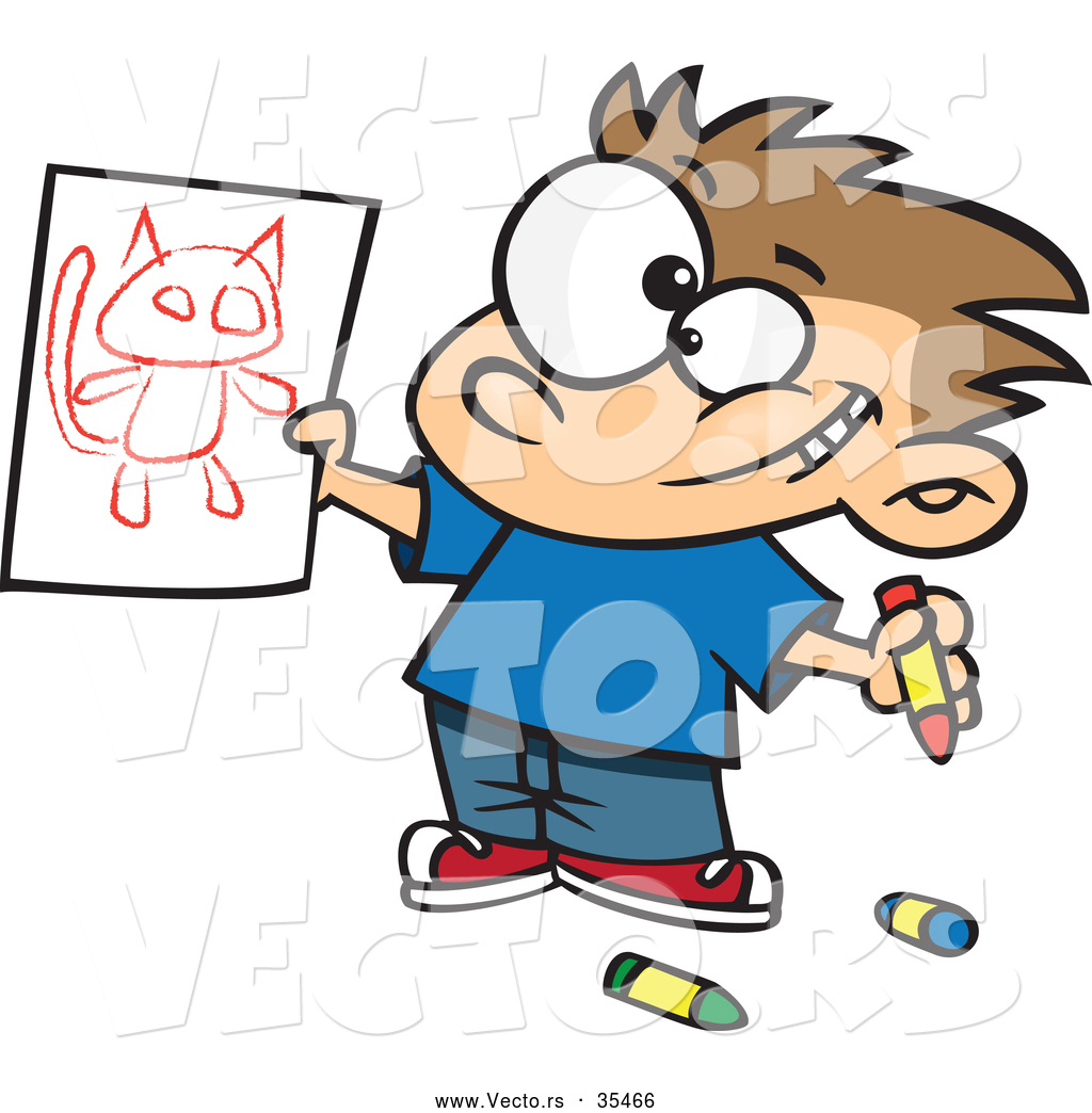 Cartoon Drawings Of Kids