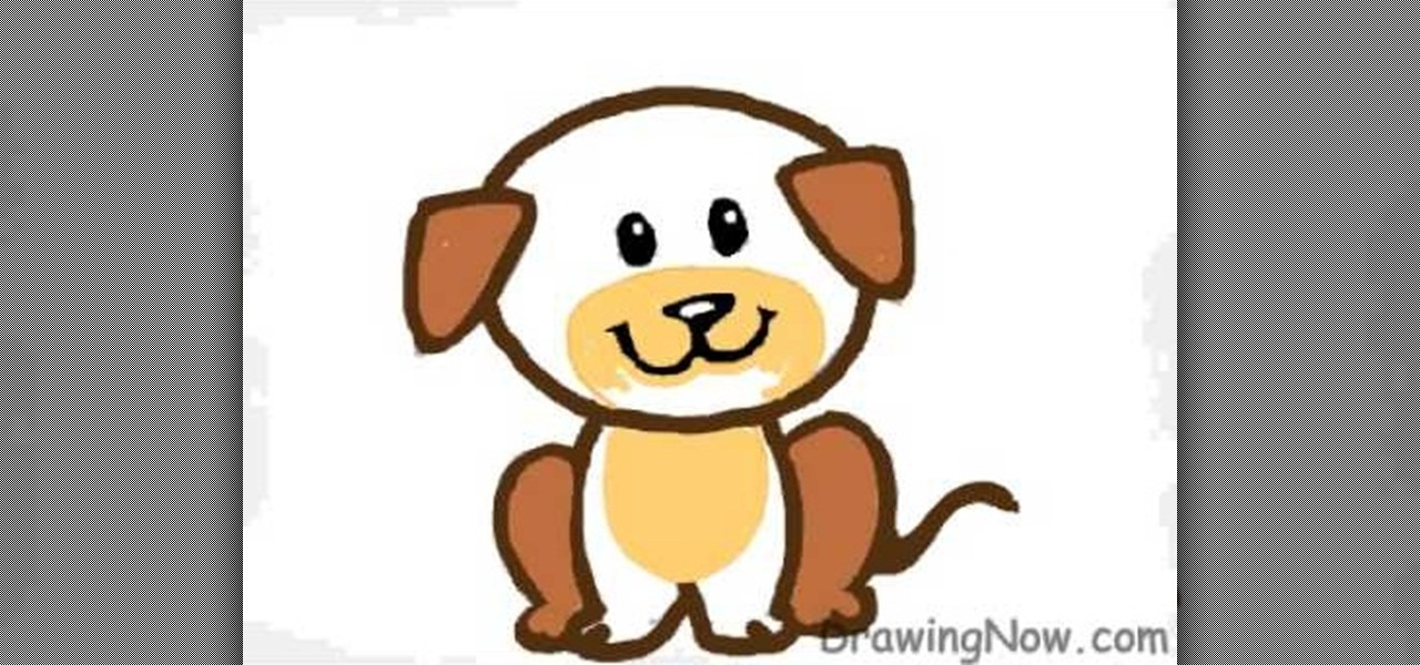 1280x600 How To Draw A Cartoon Puppy Drawing Illustration Wonderhowto