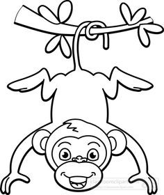 236x280 Monkey Face Drawing Clipart