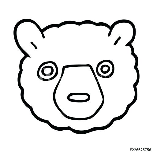 500x500 bear face drawing comic cartoon teddy bear face bear face drawing