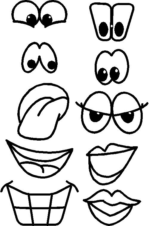 499x757 Printable Fruit Faces Drawing Drawings, Face Cut Out, Art