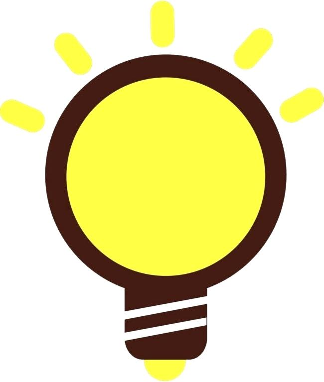 650x767 yellow light bulb cartoon bulb yellow light bulb shine cartoon