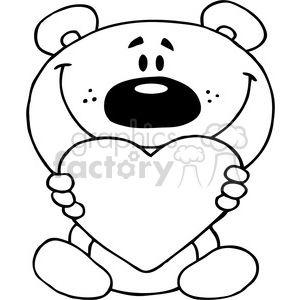 300x300 Teddy Bear Holding A Red Heart Clipart Royalty Free Clipart