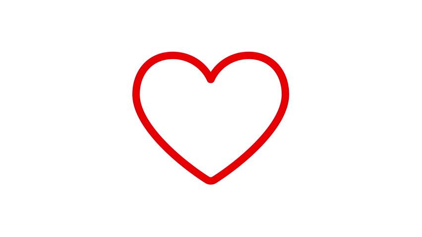 852x480 Heart Drawn