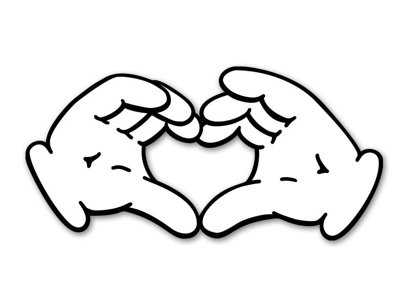 800x600 Cartoon Heart Hands