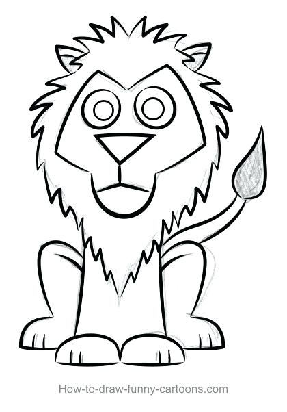 Cartoon Lion Face Drawing Free Download Best Cartoon Lion Face