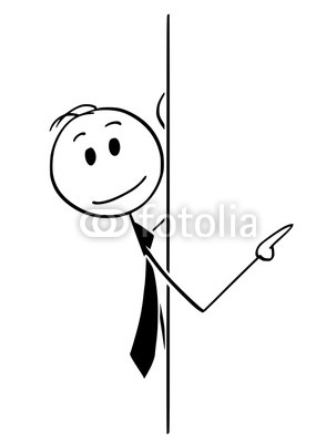 303x400 Cartoon Stick Man Drawing Conceptual Illustration Of Businessman