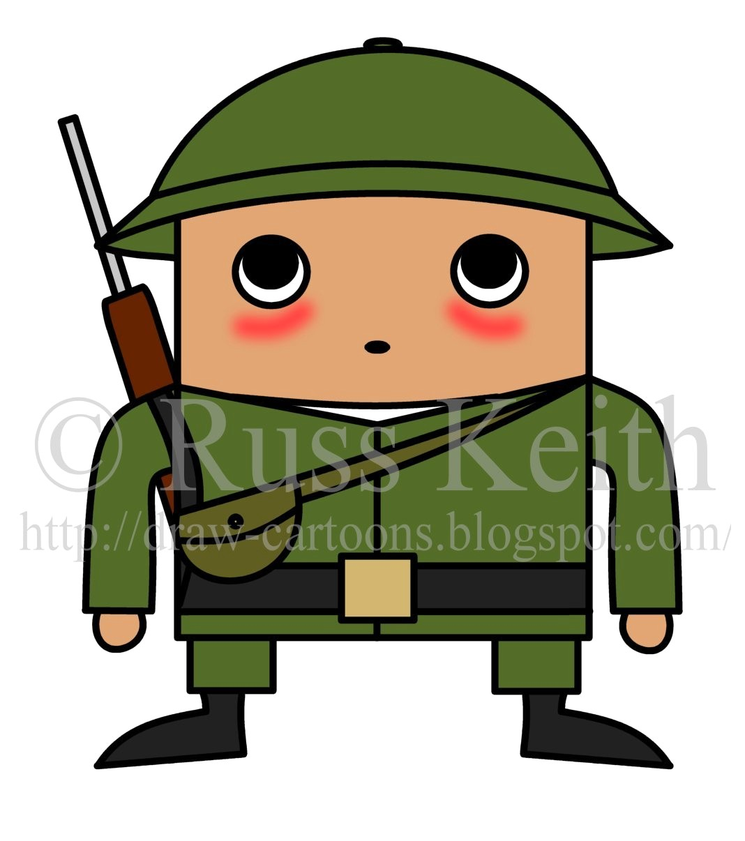1068x1206 Army Man Drawing Cartoon