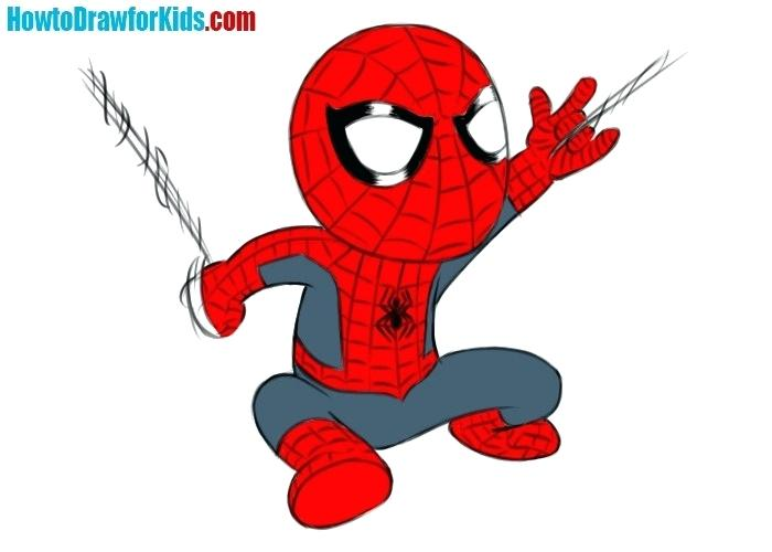 700x500 Spider Man Draw How To Draw Spider Man For Kids Easy Spiderman