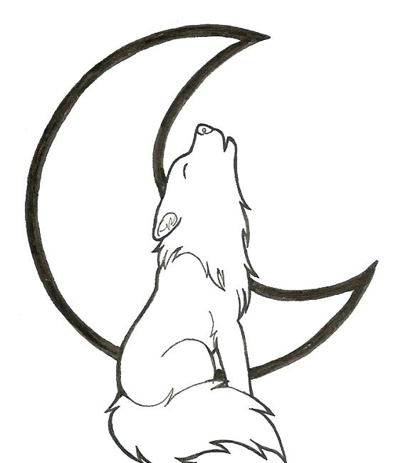 580x650 how to draw a wolf howling drawn howling wolf tribal wolf wolf