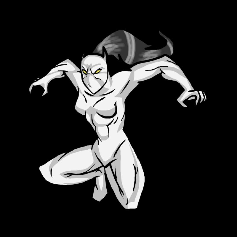 Cartoon Muscle Man Drawing