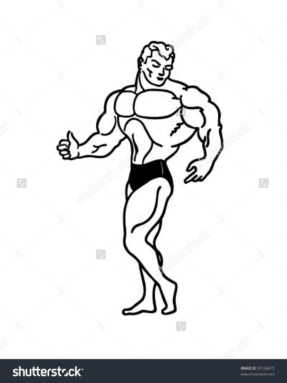 1200x1600 cartoon muscle man top of cartoon character of circus mighty