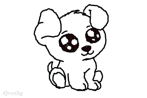 600x400 Drawing Dogs Drawing Cartoon Dog Face