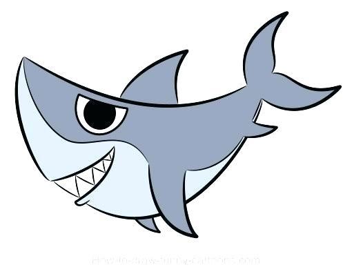 510x400 Easy Sharks To Draw Cartoon Sharks Pictures Easy Cartoon Shark