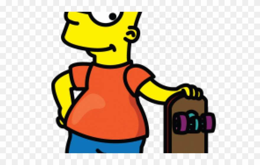 880x560 Bart Simpson Clipart Easy Drawing