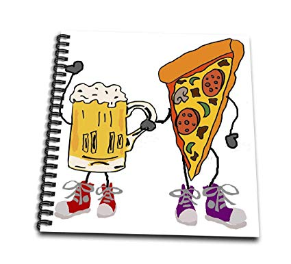 425x386 Funny Cute Beer And Pizza Holding Hands Cartoon