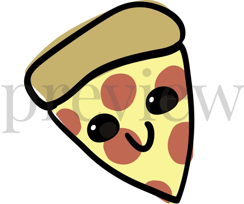 794x664 Happy Clip Art Cute Pizza Food Images Printables Etsy