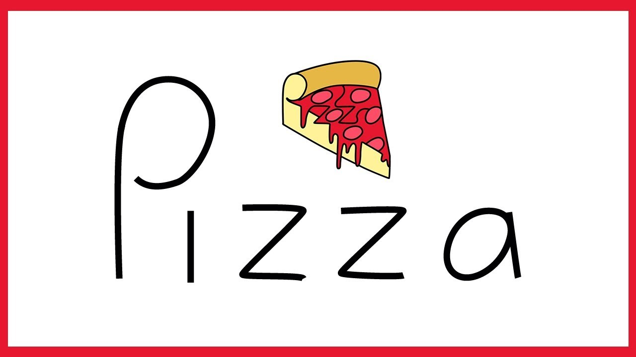 1280x720 How To Turn Words Pizza Into A Cartoon