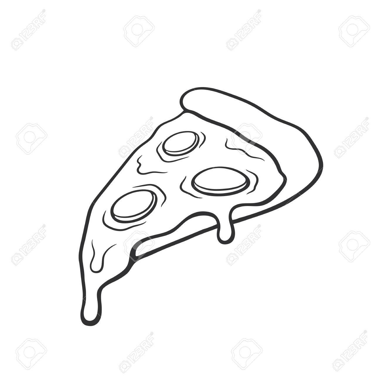 1300x1300 Cartoon Pizza Drawing And Cartoon Pizza Drawing Vector