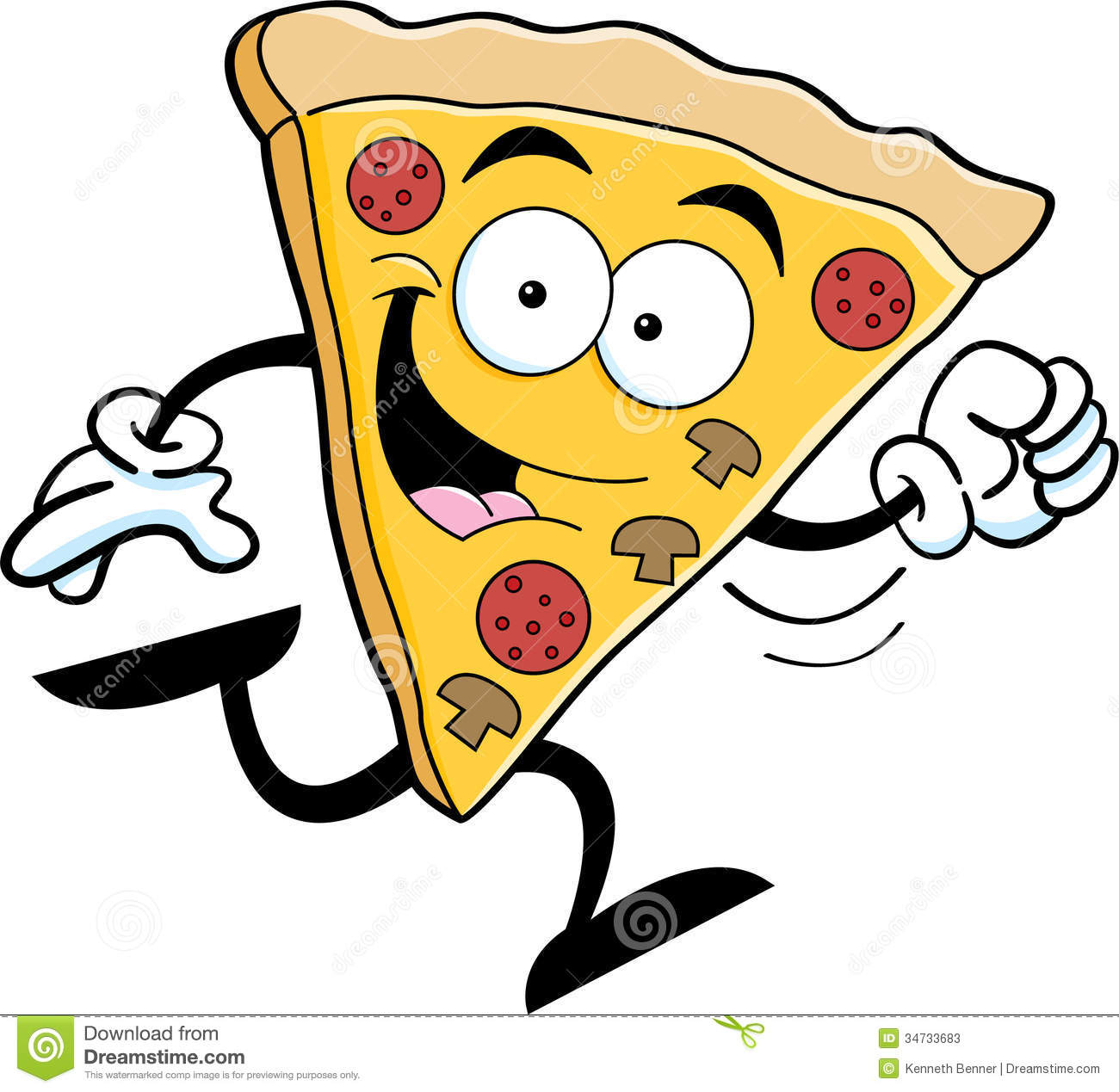 1300x1269 Cartoon Pizza Drawing And Cartoon Pizza Running Stock Illustration