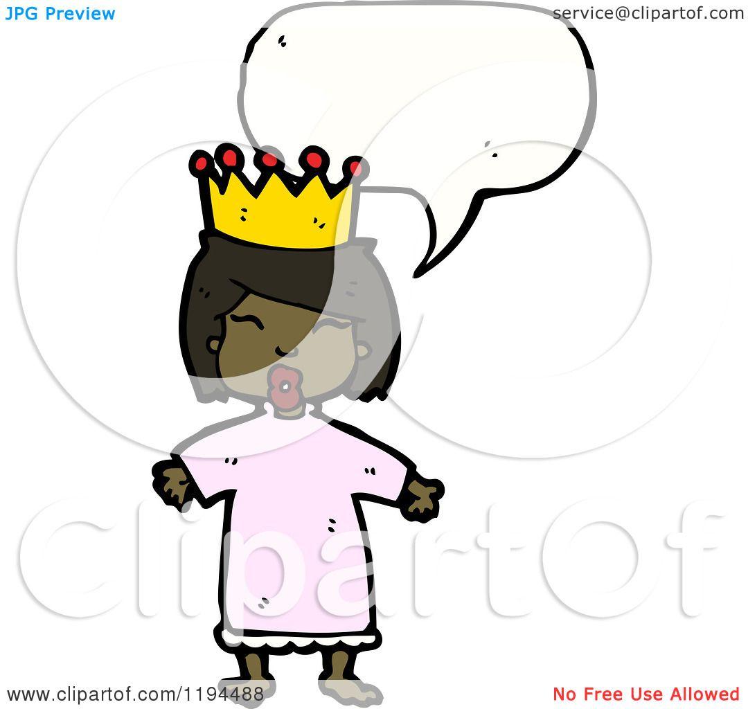 1080x1024 Cartoon Of An African American Queen Speaking