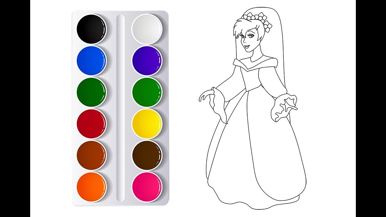1280x720 Queen Cartoon Drawing For Kid Kid Drawing Class