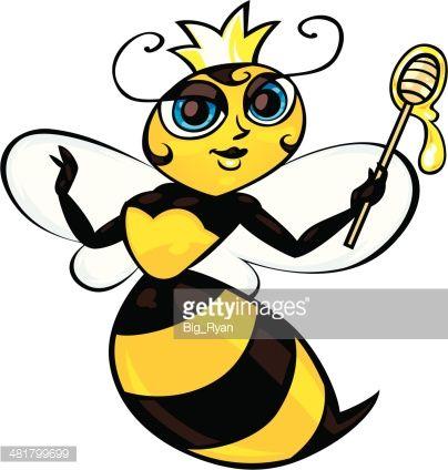 404x424 Cartoon Queen Bee Drawing Cartoon Bee, Bee Drawing, Queen Bee