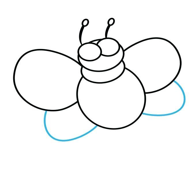 680x600 Bee Cartoon Drawing Queen Bee Cartoon Drawing