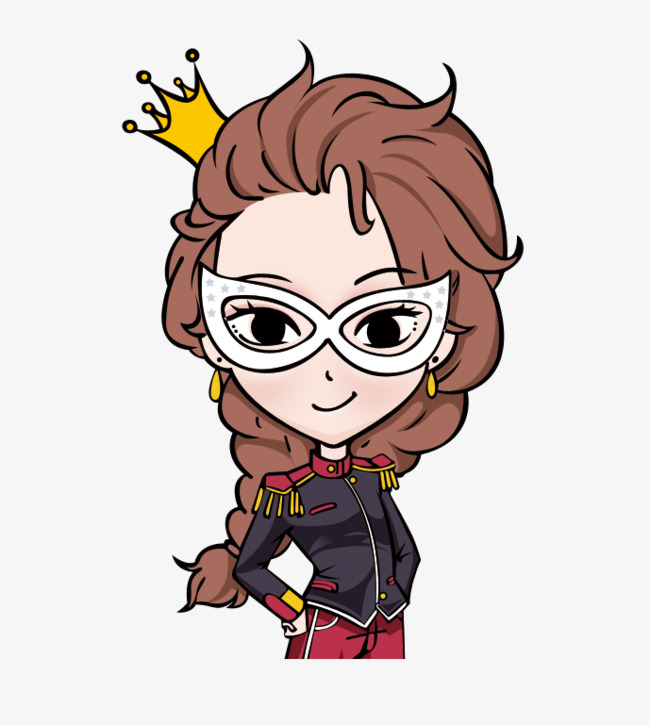 650x726 Cartoon Queen Alone Logo, Layered Material, Clothing Logo, Red