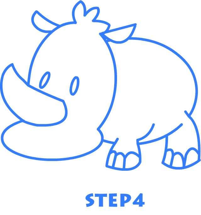 639x685 how to draw a rhino drawing a cartoon rhino draw alimy us