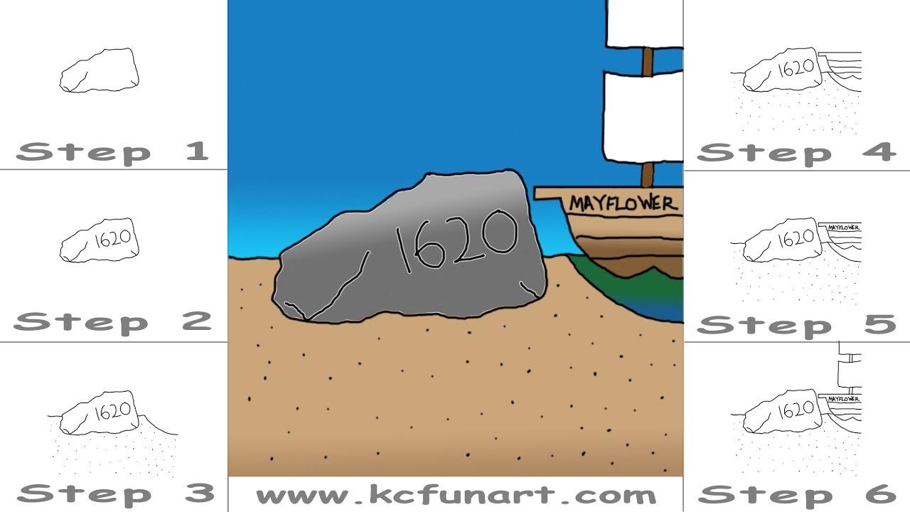 Cartoon Rock Drawing