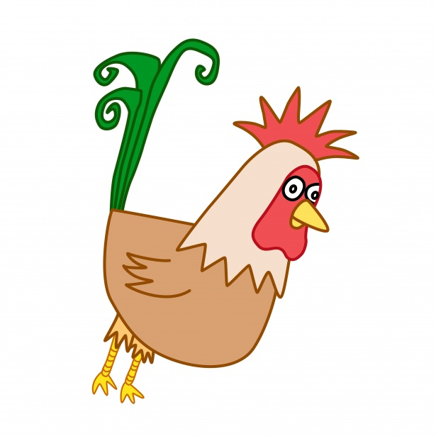 615x615 Drawing Of A Rooster Free Stock Photo