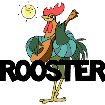 400x400 How To Draw Cartoon Roosters With Easy Step
