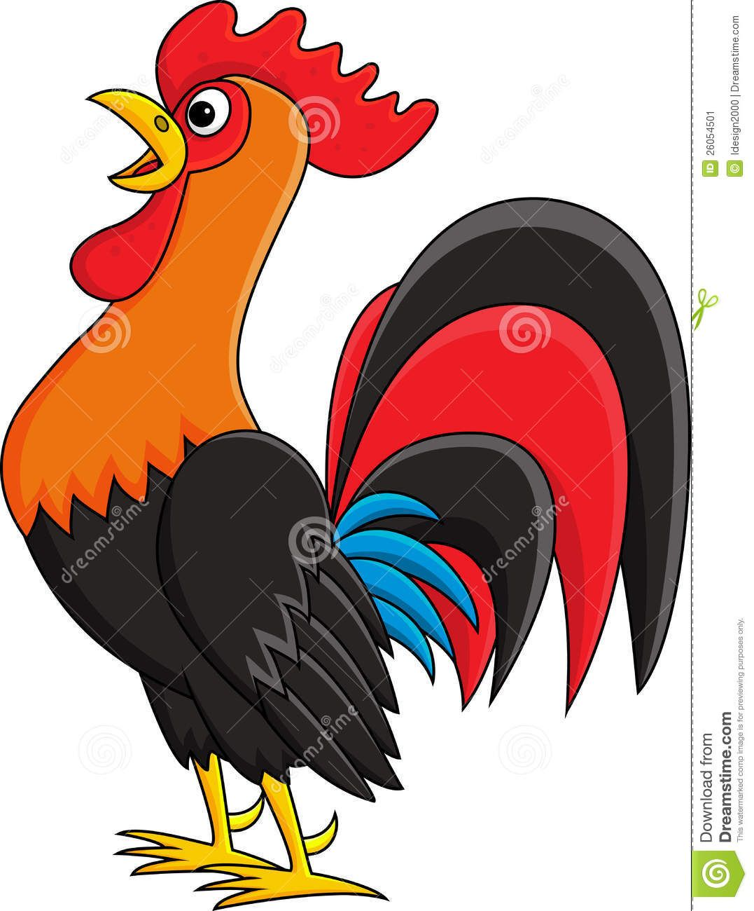 1077x1300 Cute Rooster Cartoon Drawing