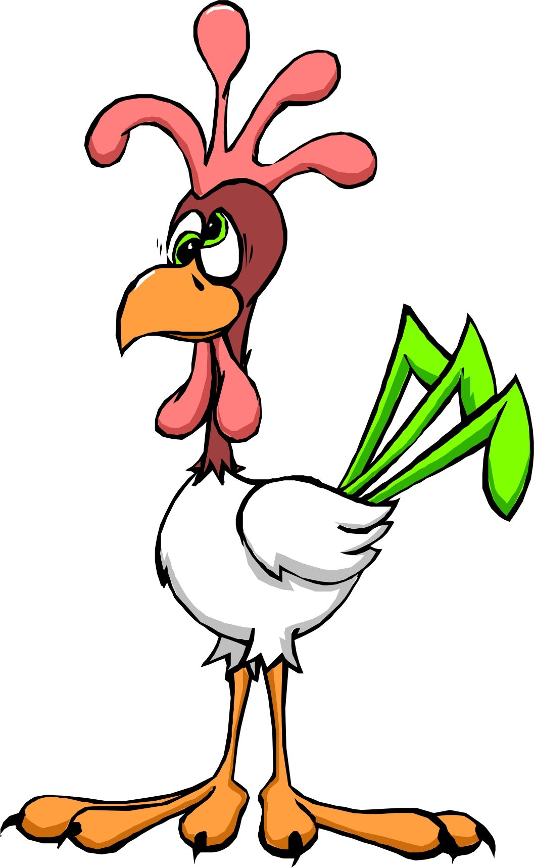 1057x1717 Cartoon Chickens