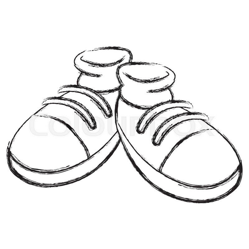 Cartoon Shoes Drawing