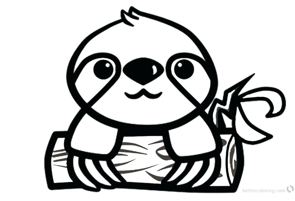 1024x700 sloth coloring pages to print creative cuties baby sloth coloring