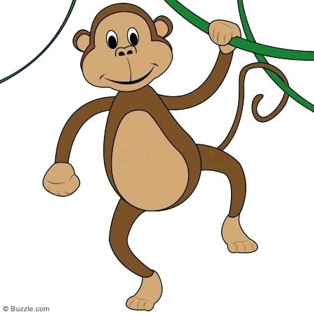 450x450 drawing monkey monkey on a tree drawing monkey pictures