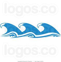 Cartoon Wave Drawing