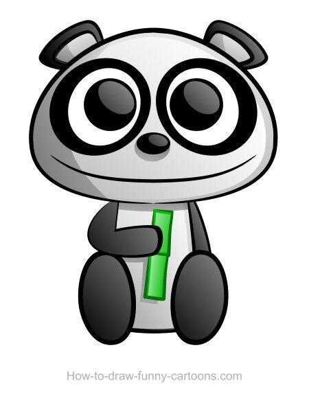 450x580 Panda Drawing