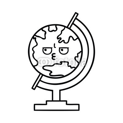 400x400 Line Drawing Cartoon Globe Of The World Buy Photos Ap Images