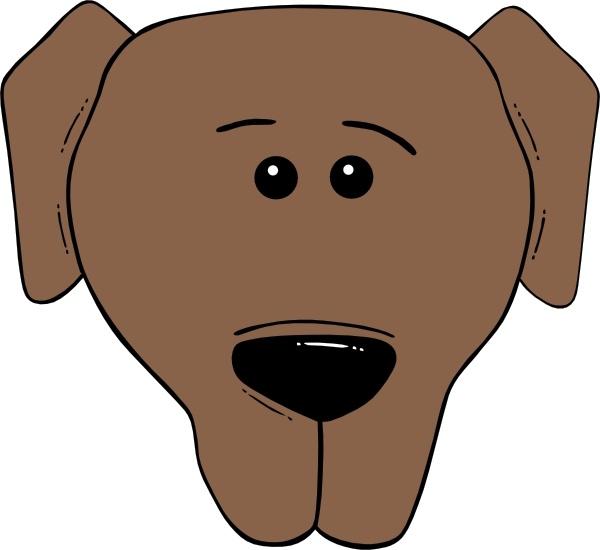 600x550 Dog Face Cartoon World Label Clip Art Free Vector In Open Office