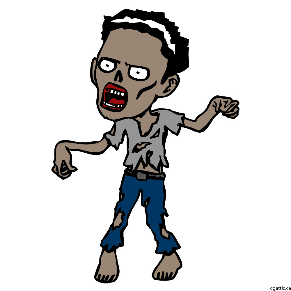 1000x1000 Zombie Cartoon Drawing In Steps With Photoshop