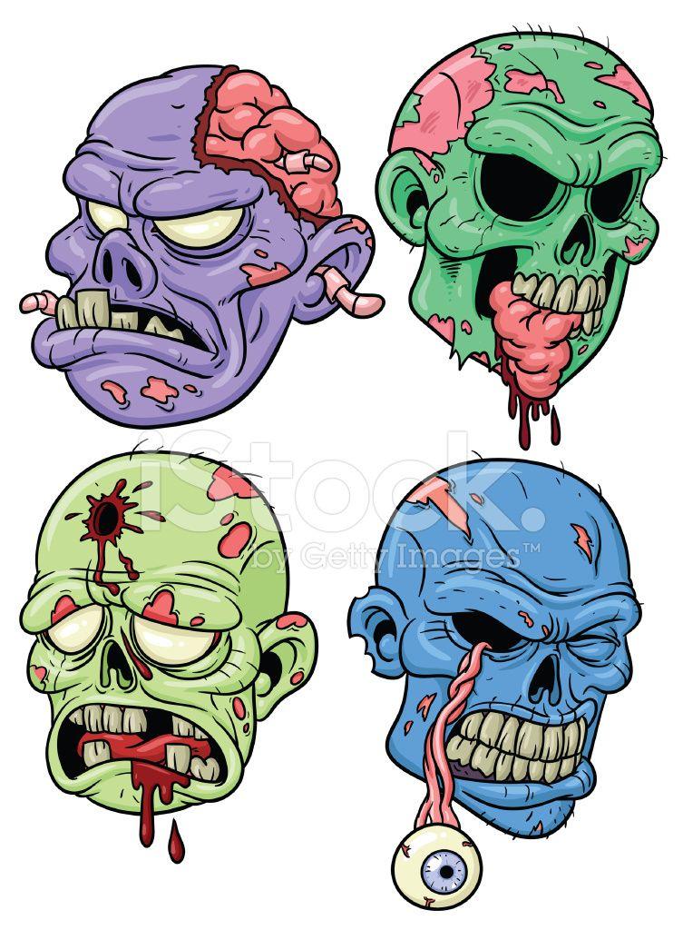753x1024 Cartoon Zombies Stock Photos