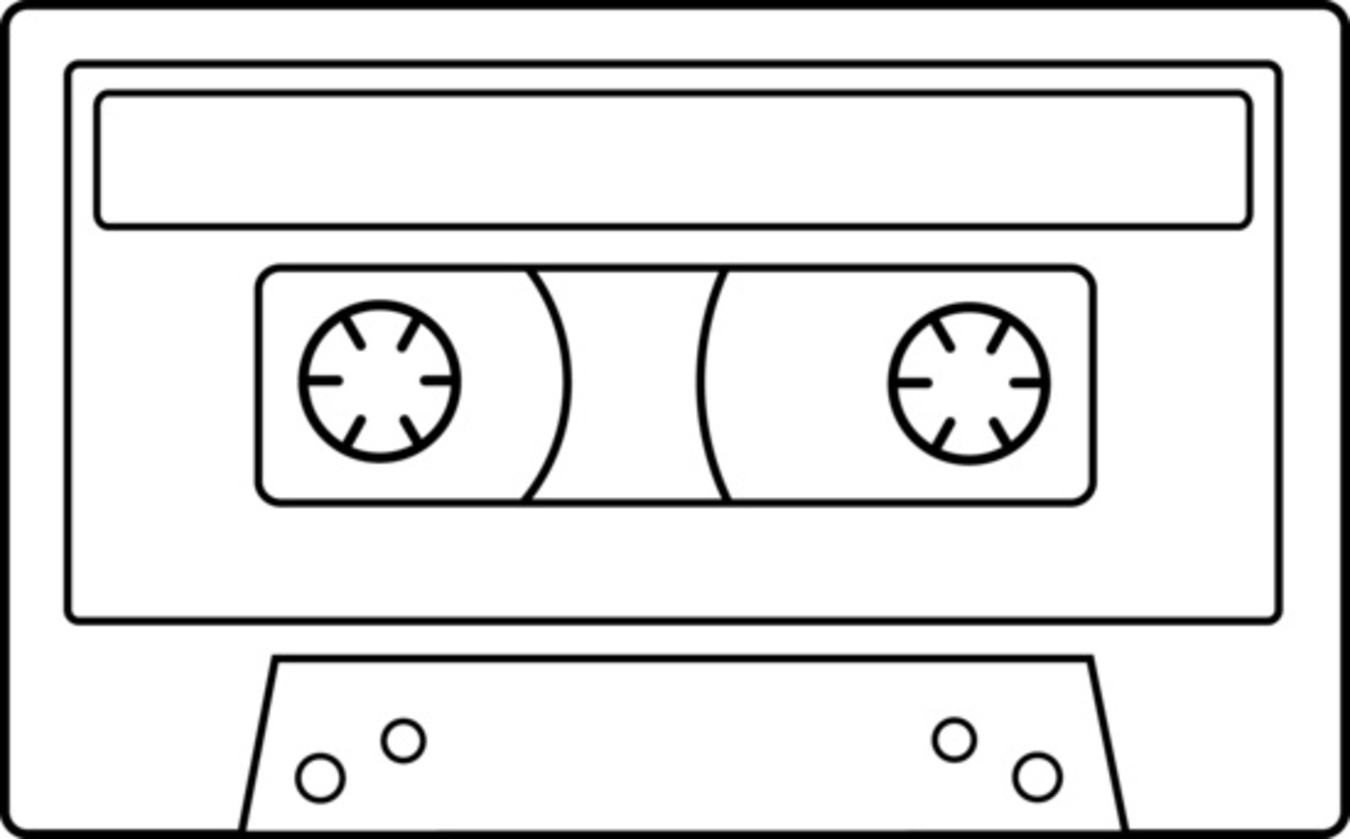 1350x839 Cassette Tape Drawing