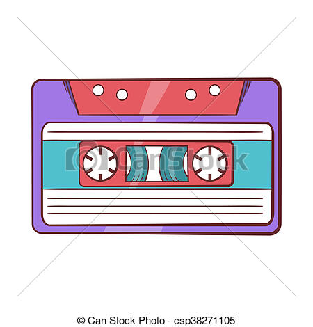 450x470 cassette tape icon, cartoon style icon in cartoon style